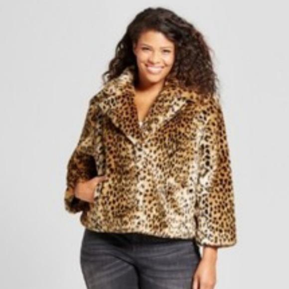6af7bc730663f Sassy Ava Viv animal print faux fur coat